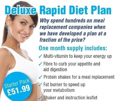 RAPID DIET PLAN DELUXE STARTER PACK - Special Offer (Includes 33 Shakes)